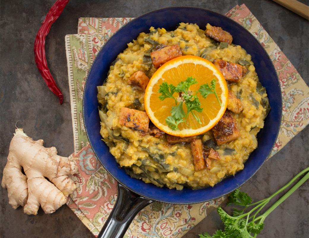 Currylinsen mit Orangen {flowers on my plate}