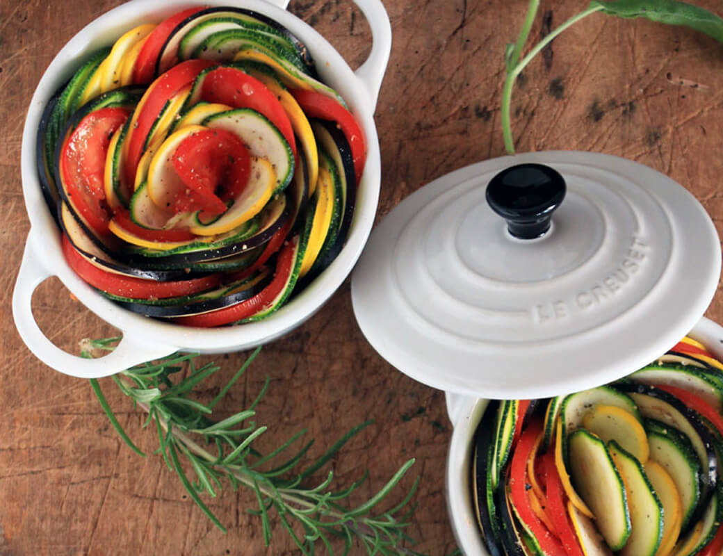 Ratatouille {flowers on my plate}