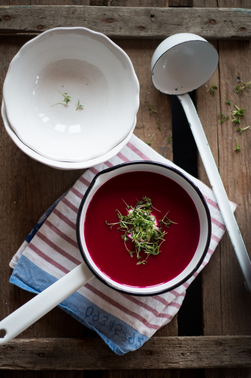 Rote Bete & Apfel Suppe